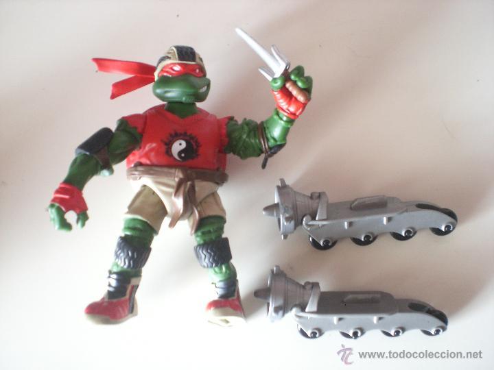 Figuras y Muñecos Tortugas Ninja: Muñeco Tortugas Ninja Raphael Bikin Raph de 13 cm Playmates - Foto 3 - 44449352