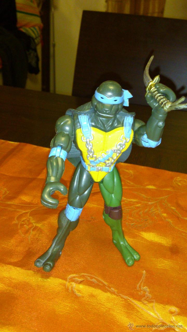 Figuras y Muñecos Tortugas Ninja: Figura de tortuga ninja de plástico duro Articulado .15,5 cm - Foto 2 - 46376909