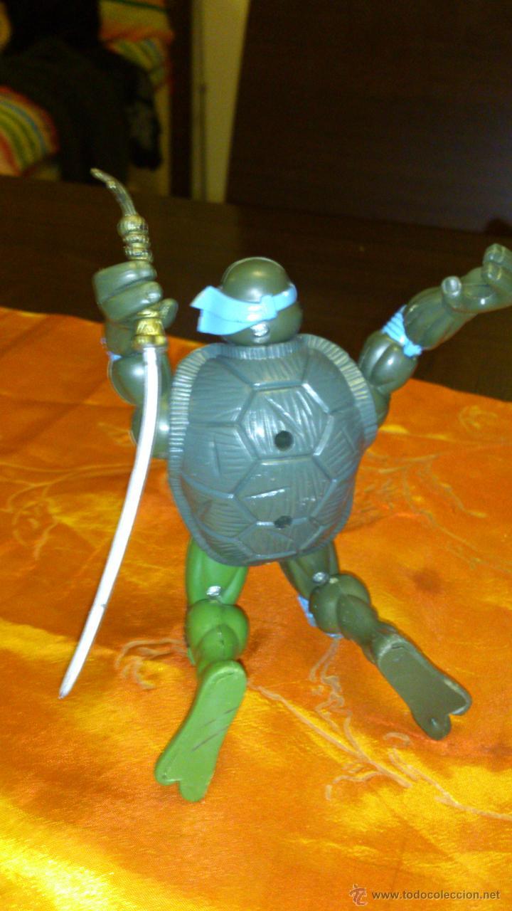 Figuras y Muñecos Tortugas Ninja: Figura de tortuga ninja de plástico duro Articulado .15,5 cm - Foto 3 - 46376909