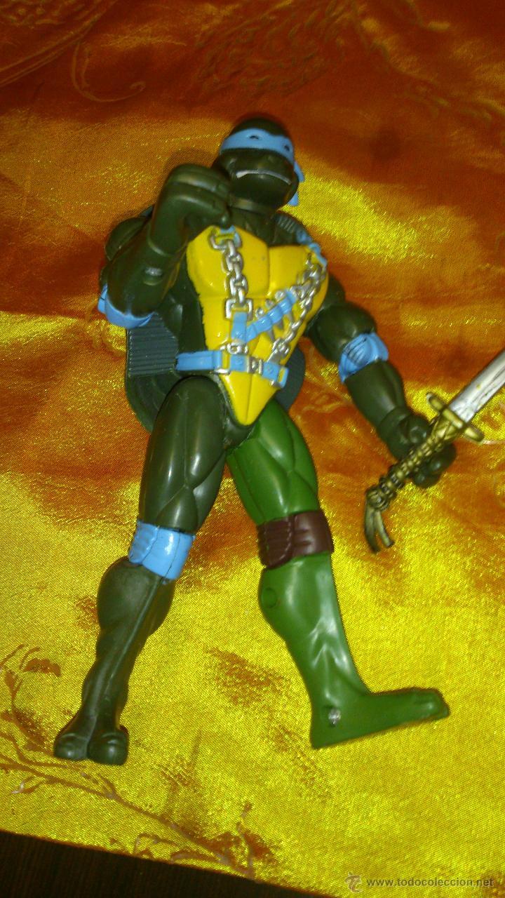 Figuras y Muñecos Tortugas Ninja: Figura de tortuga ninja de plástico duro Articulado .15,5 cm - Foto 5 - 46376909