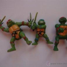 Figuras y Muñecos Tortugas Ninja: 3 MUÑECOS AÑOS 90 TORTUGAS NINJA. Lote 46665428
