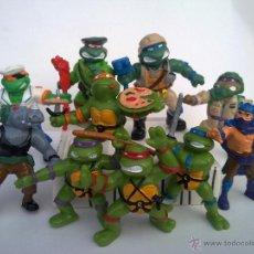 Figuras y Muñecos Tortugas Ninja: INCREIBLE COLECCION 10 FIGURAS VVINTAGE PVC TORTUGAS NINJA AÑOS 90 NINJA TRUTLES. Lote 201939796