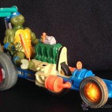 Figuras y Muñecos Tortugas Ninja: ANTIGUO COCHE DE LAS TORTUGAS NINJA DE 1990 SEWER DRAGSTER . Lote 48847730