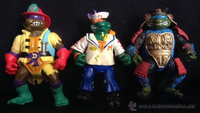 LOTE MUÑECO FIGURA LAS TORTUGAS NINJA ORIGINALES AÑOS 90 (Juguetes - Figuras de Acción - Tortugas Ninja)