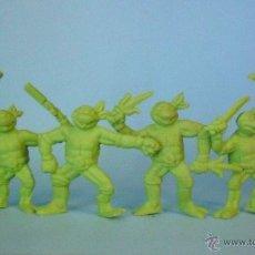 Figuras y Muñecos Tortugas Ninja: TMNT SET COMPLETO DE CUATRO FIGURAS DE PVC BLANDO DE LAS TORTUGAS NINJA AÑOS 80. Lote 49339407