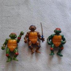 Figuras y Muñecos Tortugas Ninja: LOTE DE 3 TORTUGAS NINJA MIRAGE STUDIOS 1988, 11CM ALTO. Lote 55148088