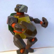 Figuras y Muñecos Tortugas Ninja: TORTUGAS NINJA TRANSFORMERS NINJA TURTLES MIKELANGELO TRAJE BLINDADO TMNT. Lote 50707245