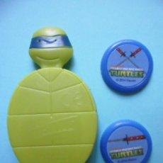 Figuras y Muñecos Tortugas Ninja: TEENAGE MUTANT NINJA TURTLES LEONARDO LANZA DISCOS PHOSKITOS VIACOM 2014. Lote 50742571