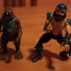Figuras y Muñecos Tortugas Ninja: PACK LOTE FIGURAS TORTUGAS NINJA SHREDDER SPLINTER 1988 TMNT PLAYMATES. Lote 89102815