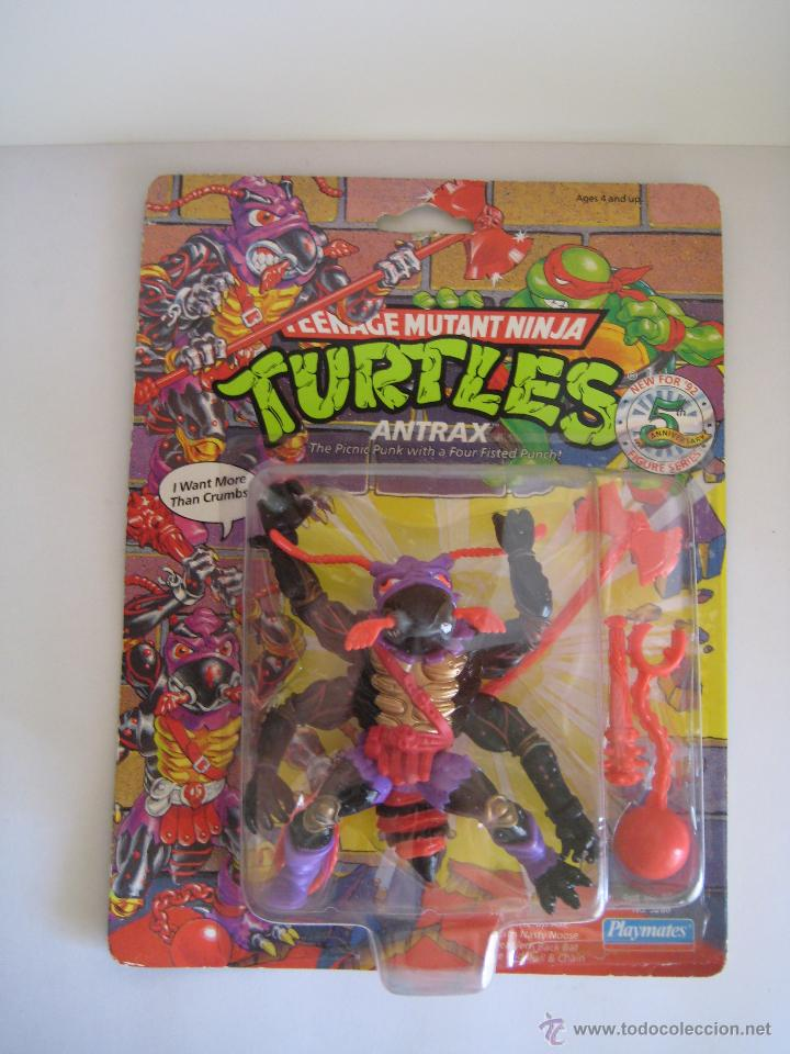 Figuras y Muñecos Tortugas Ninja: Vintage Teenage Mutant Ninja TMNT Tortugas Ninja - Antrax Nuevo New - Foto 2 - 144864152