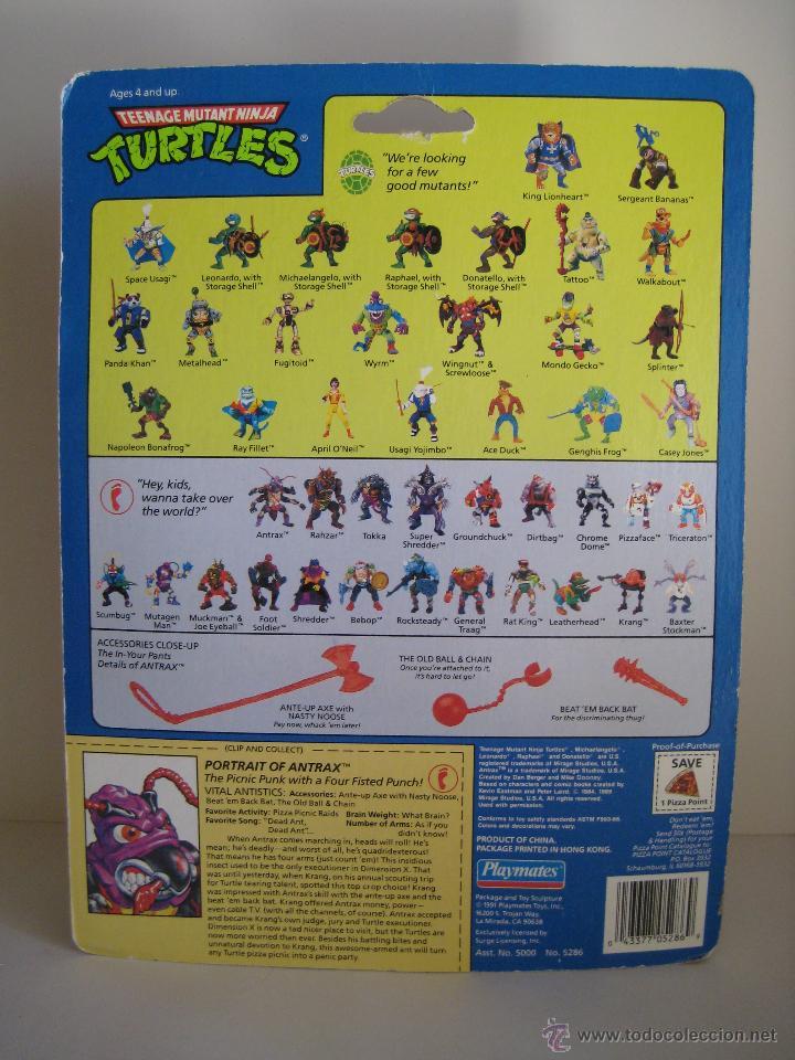 Figuras y Muñecos Tortugas Ninja: Vintage Teenage Mutant Ninja TMNT Tortugas Ninja - Antrax Nuevo New - Foto 7 - 144864152