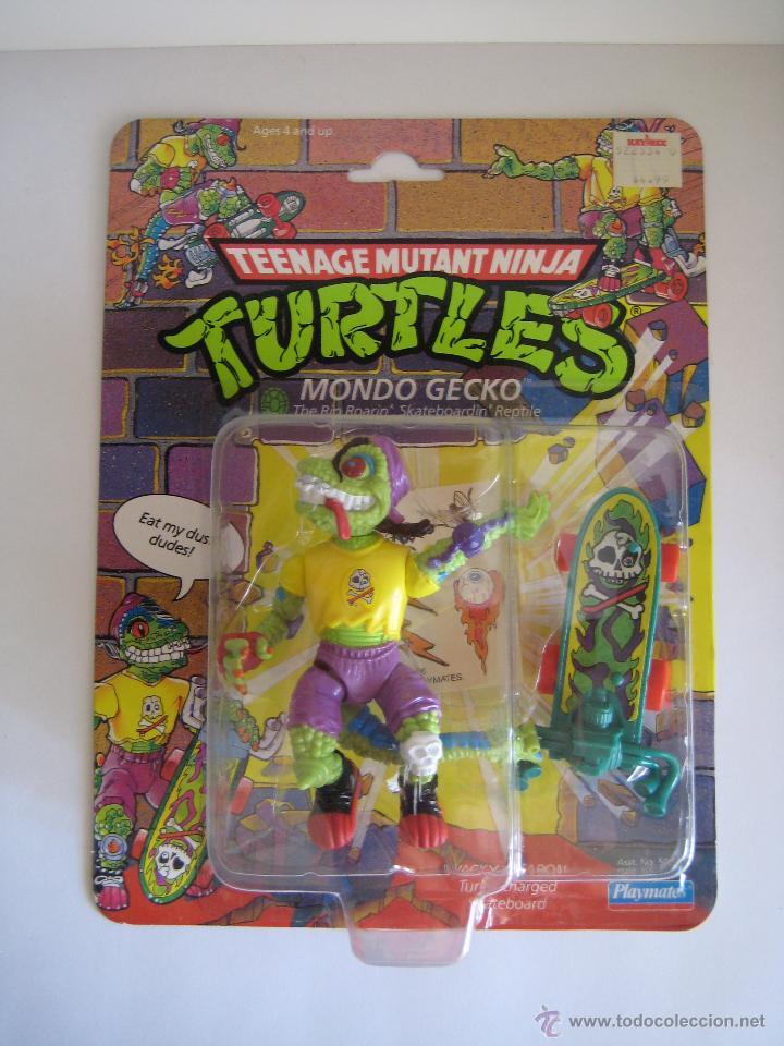 VINTAGE TEENAGE MUTANT NINJA TMNT TORTUGAS NINJA - MONDO GECKO NUEVO NEW (Juguetes - Figuras de Acción - Tortugas Ninja)