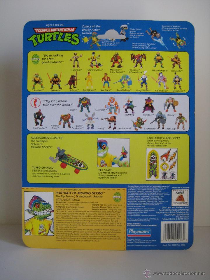 Figuras y Muñecos Tortugas Ninja: Vintage Teenage Mutant Ninja TMNT Tortugas Ninja - Mondo Gecko Nuevo New - Foto 7 - 53131869