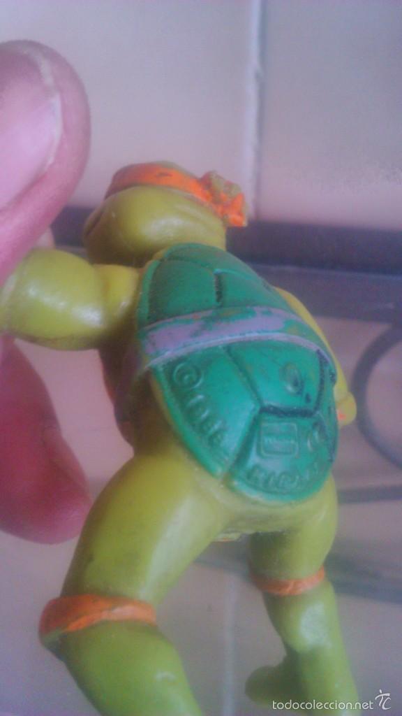 Figuras y Muñecos Tortugas Ninja: TORTUGA NINJA MICHELANGELO mirage estudio.AÑO 1988 - Foto 4 - 56323257