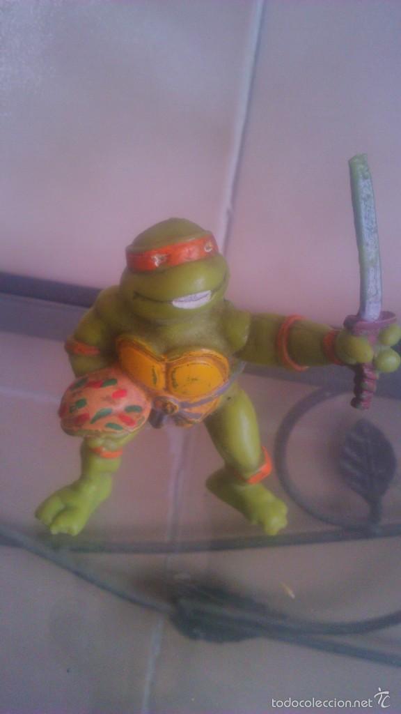 Figuras y Muñecos Tortugas Ninja: TORTUGA NINJA MICHELANGELO mirage estudio.AÑO 1988 - Foto 5 - 56323257