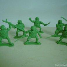 Figuras y Muñecos Tortugas Ninja: LOTE DE SEIS FIGURAS PLASTICO TORTUGAS NINJA. Lote 56819133