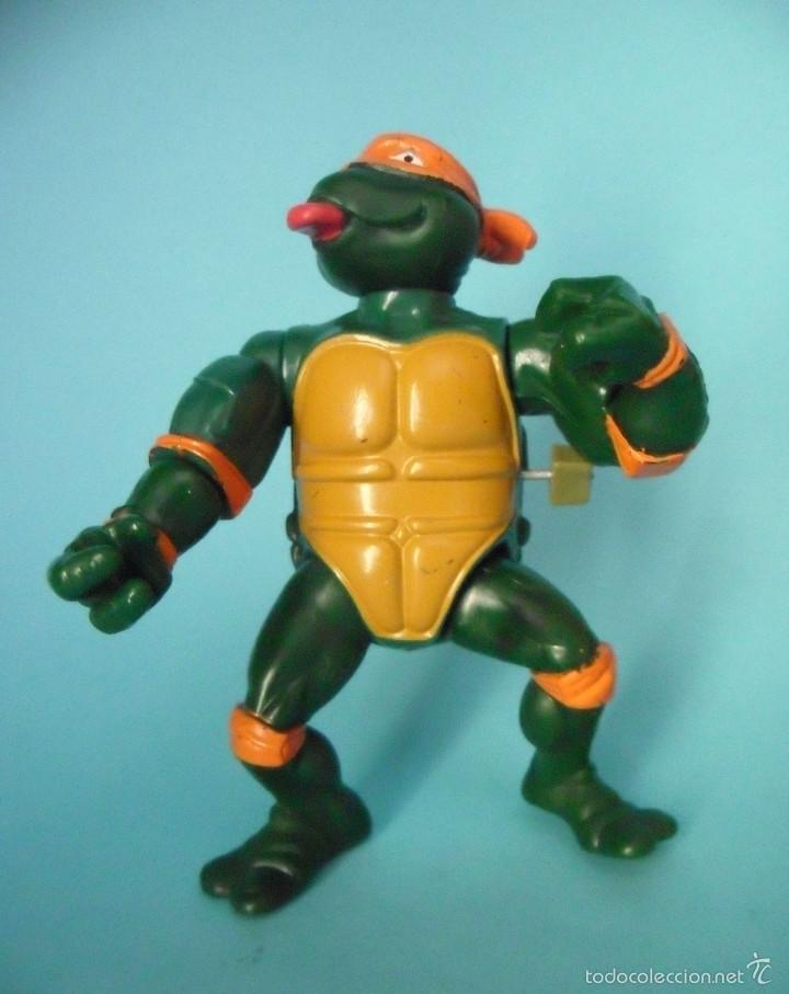TORTUGAS NINJA WACKY ACTION ROCK N ROLL MICHELANGELO MIRAGE STUDIOS 1989 (Juguetes - Figuras de Acción - Tortugas Ninja)
