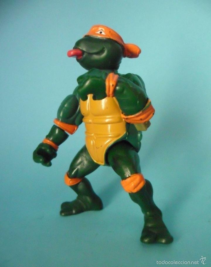 Figuras y Muñecos Tortugas Ninja: TORTUGAS NINJA WACKY ACTION ROCK N ROLL MICHELANGELO MIRAGE STUDIOS 1989 - Foto 3 - 57116066