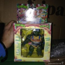 Figuras y Muñecos Tortugas Ninja: DIFICILISIMA CAJA TORTUGAS NINJA MASTERS LEONARDO ARROJA PIZAS HE MAN TURTLES. Lote 57649317