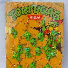 Figuras y Muñecos Tortugas Ninja: TMNT TORTUGAS NINJA EXPOSITOR CON 18 LLAVEROS MIRAGE STUDIOS STAR TOYS 1988. Lote 129691719
