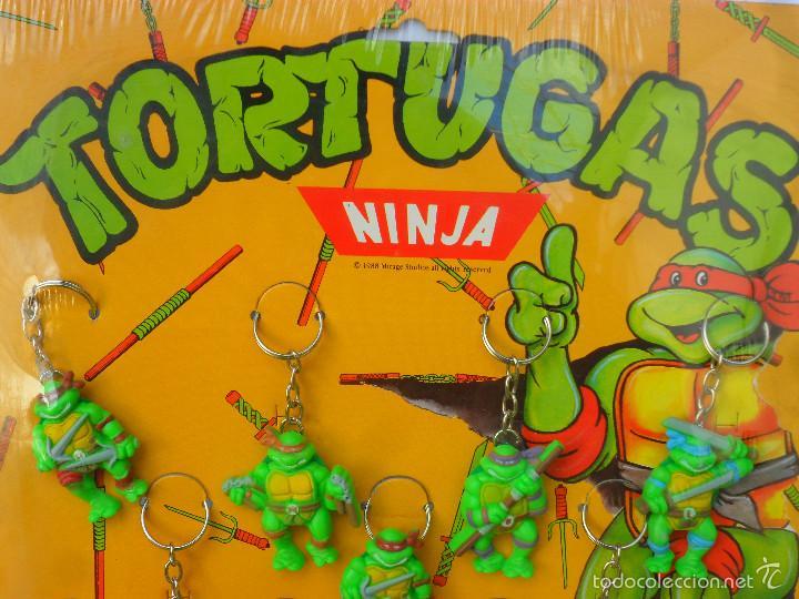 Figuras y Muñecos Tortugas Ninja: TMNT TORTUGAS NINJA EXPOSITOR CON 18 LLAVEROS MIRAGE STUDIOS STAR TOYS 1988 - Foto 2 - 129691719