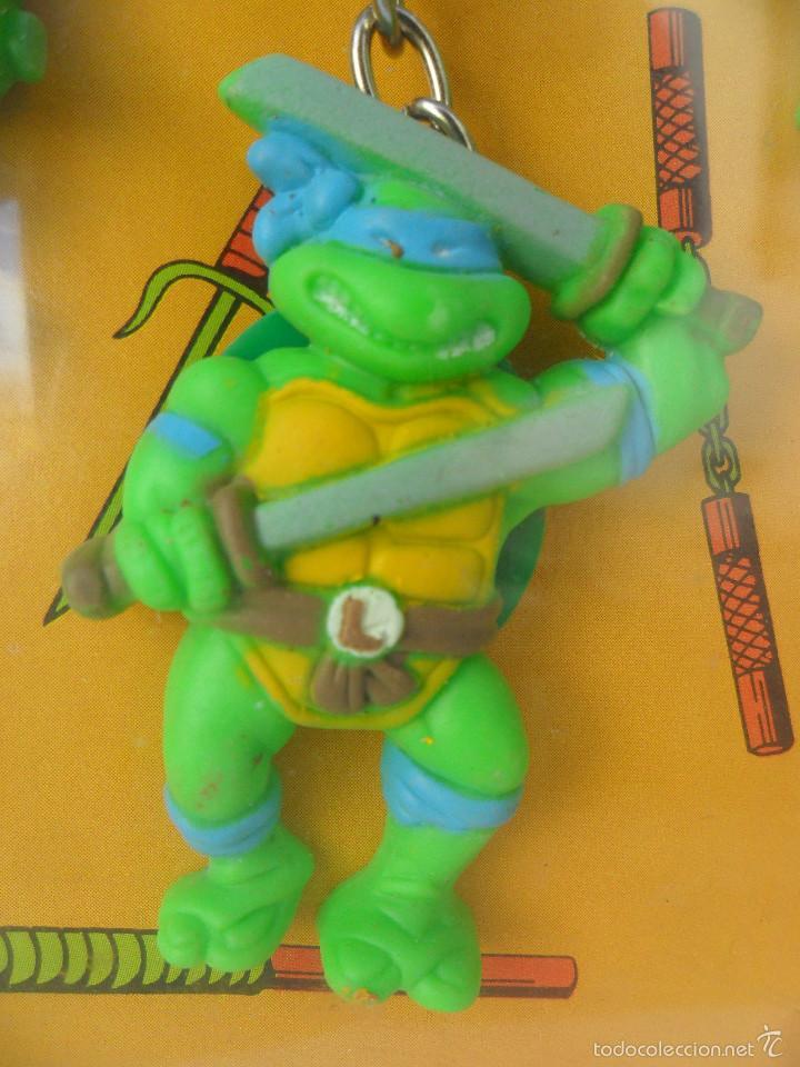 Figuras y Muñecos Tortugas Ninja: TMNT TORTUGAS NINJA EXPOSITOR CON 18 LLAVEROS MIRAGE STUDIOS STAR TOYS 1988 - Foto 4 - 129691719