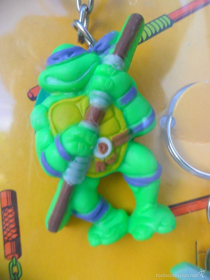 Figuras y Muñecos Tortugas Ninja: TMNT TORTUGAS NINJA EXPOSITOR CON 18 LLAVEROS MIRAGE STUDIOS STAR TOYS 1988 - Foto 6 - 129691719