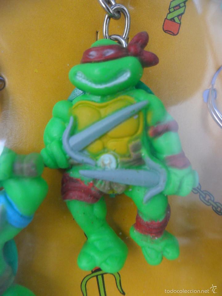 Figuras y Muñecos Tortugas Ninja: TMNT TORTUGAS NINJA EXPOSITOR CON 18 LLAVEROS MIRAGE STUDIOS STAR TOYS 1988 - Foto 7 - 129691719