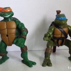 Figuras y Muñecos Tortugas Ninja: LOTE 2 TORTUGAS NINJA - MIRAGE STUDIOS PLAYMATES TOYS 2002 - 13CM. Lote 64882495