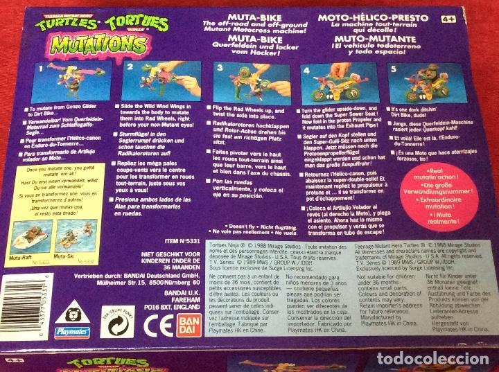 Figuras y Muñecos Tortugas Ninja: Moto-Mutante Tortugas Ninja BANDAI 1989 - Foto 3 - 158455152
