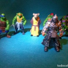 Figuras y Muñecos Tortugas Ninja: LOTE TORTUGAS NINJA__GOMA ___5 CM___6 UNIDADES. Lote 72928455
