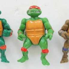 Figuras y Muñecos Tortugas Ninja: LOTE 3 TORTUGAS NINJA TMNT PLAYMATES TOYS - MIRAGE STUDIOS 1988. Lote 76177211