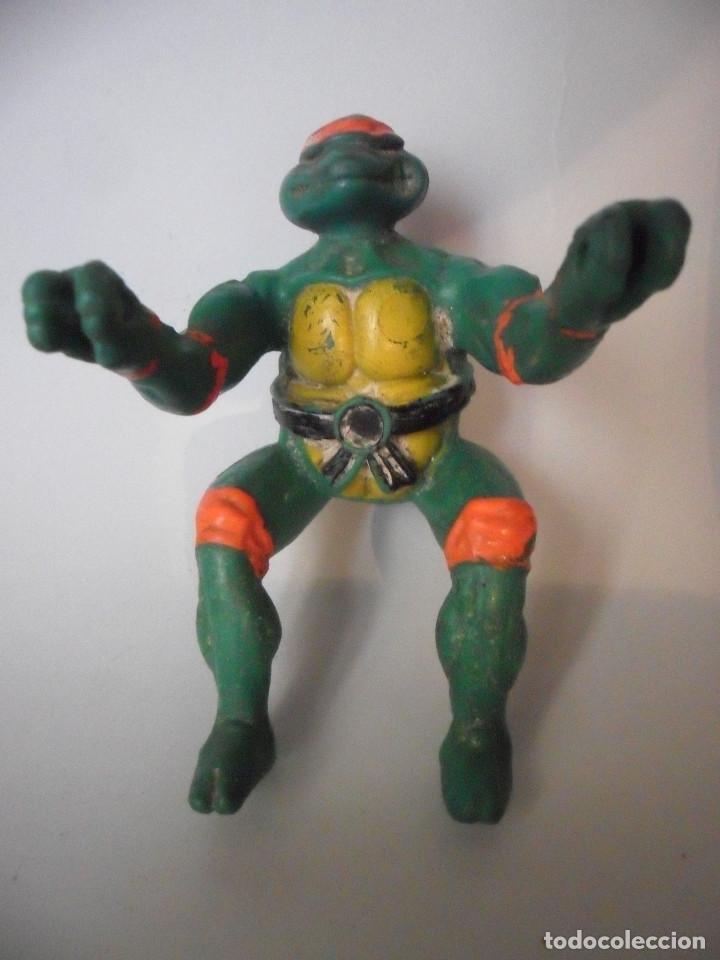 Figuras y Muñecos Tortugas Ninja: TMNT TEENAGE MUTANT NINJA TURTLES FIGURA BOOTLEG DE GOMA DE 9 CM - Foto 2 - 84947760
