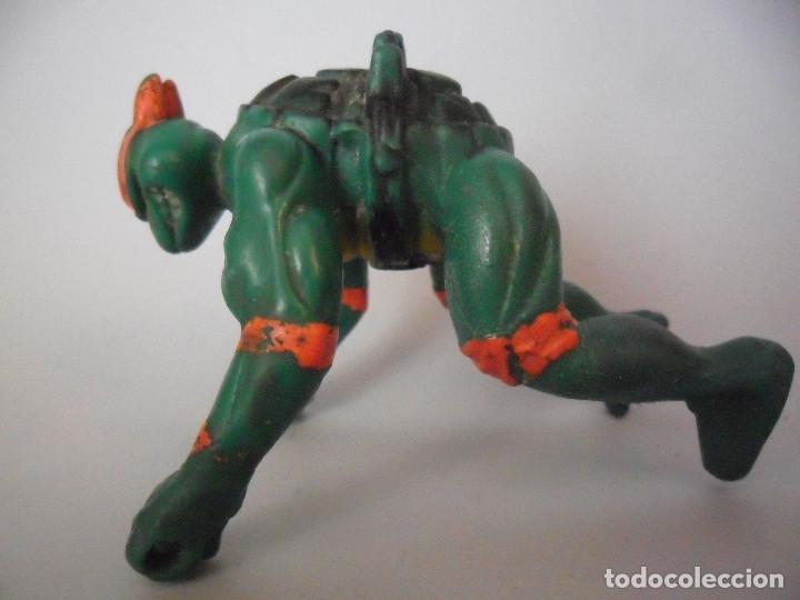 Figuras y Muñecos Tortugas Ninja: TMNT TEENAGE MUTANT NINJA TURTLES FIGURA BOOTLEG DE GOMA DE 9 CM - Foto 4 - 84947760