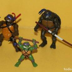Figuras y Muñecos Tortugas Ninja: LOTE DE 3 TORTUGAS NINJA - PLAYMATES TOYS MIRAGE STUDIOS. Lote 85488704
