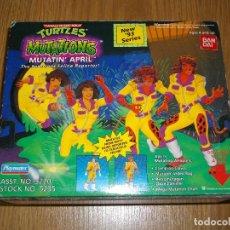 Figuras y Muñecos Tortugas Ninja: TORTUGAS NINJA MUTATIN APRIL BANDAI PLAYMATES TURTLES TNMT VINTAGE NUEVO A ESTRENAR. Lote 86432356