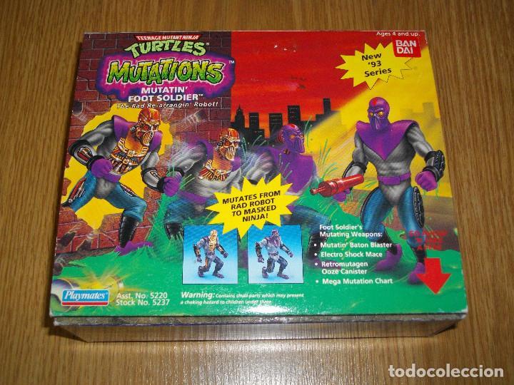TORTUGAS NINJA MUTATIN FOOT SOLDIER BANDAI PLAYMATES TURTLES TNMT VINTAGE NUEVO A ESTRENAR (Juguetes - Figuras de Acción - Tortugas Ninja)
