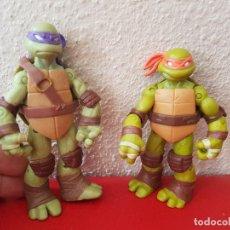 Figuras y Muñecos Tortugas Ninja: LOTE TORTUGAS NINJA TORTUGA VIACOM EL SEGUNDO FIGURAS DE GOMA O PVC . Lote 91260220