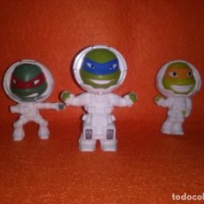Figuras y Muñecos Tortugas Ninja: TRES MUÑECOS PVC *TORTUGAS NINJA*___7 CM. Lote 91669360