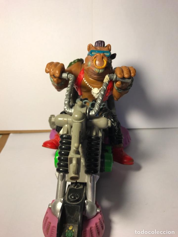 Figuras y Muñecos Tortugas Ninja: Las tortugas ninja - Mutante bebop y su moto - Mirage studio 1988 - 1990 - Foto 2 - 95730415