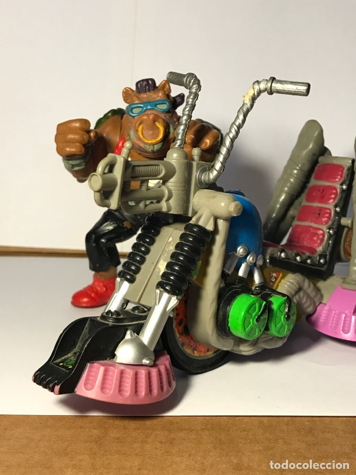 Figuras y Muñecos Tortugas Ninja: Las tortugas ninja - Mutante bebop y su moto - Mirage studio 1988 - 1990 - Foto 5 - 95730415
