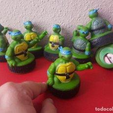 Figuras y Muñecos Tortugas Ninja: 1 UD FIGURA DE GOMA O PVC TORTUGAS NINJA FEBER 1991 SACAPUNTAS MIRAGE STUDIO FIGURAS LEONARDO . Lote 101235255