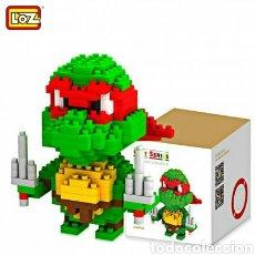 Figuras y Muñecos Tortugas Ninja: TORTUGA NINJA RAFAEL SIMIL LEGO, JUEGO DE BLOQUES 210 PIEZAS LOZ. Lote 104329271