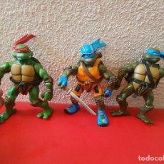 Figuras y Muñecos Tortugas Ninja: LOTE 3 FIGURA MUÑECO TORTUGAS NINJA 2003 PLAYMATES FIGURAS MIRAGE STUDIOS. Lote 104454579