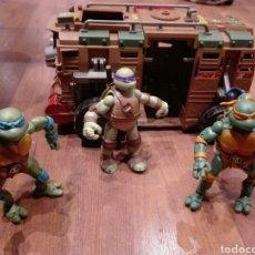 Figuras y Muñecos Tortugas Ninja: CAMION Y TORTUGAS NINJA. Lote 106036514