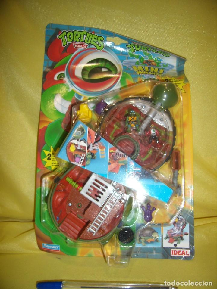 TORTUGAS NINJA MINI MUTANTS DE IDEAL, AÑO 1994, NUEVO. (Juguetes - Figuras de Acción - Tortugas Ninja)