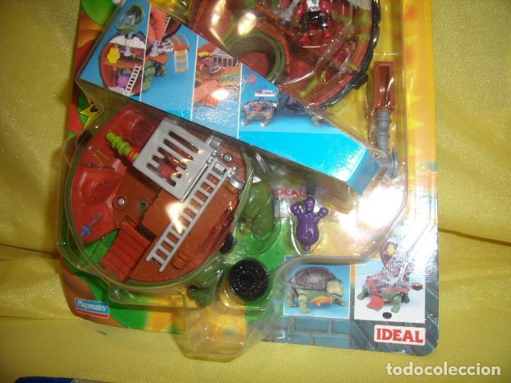 Figuras y Muñecos Tortugas Ninja: Tortugas Ninja mini mutants de Ideal, año 1994, Nuevo. - Foto 3 - 162540968