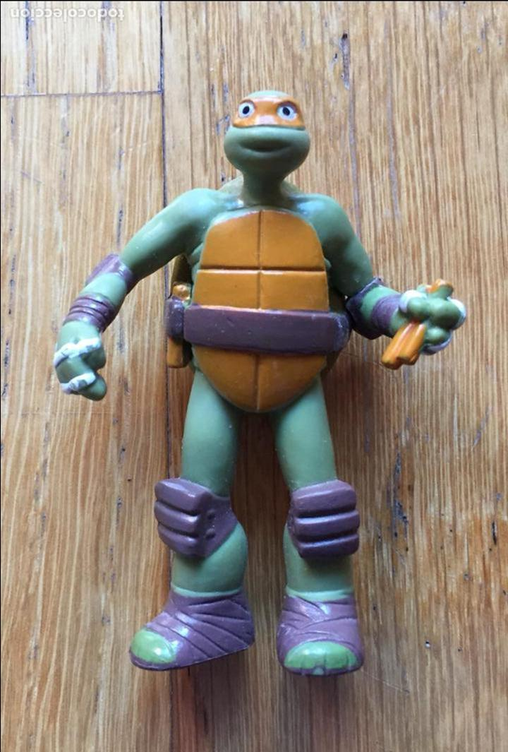 LOTE DOS FIGURAS TORTUGA NINJA, VIACOM VER FOTOS (Juguetes - Figuras de Acción - Tortugas Ninja)