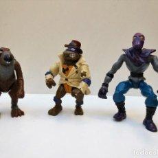 Figuras y Muñecos Tortugas Ninja: LOTE DE 3 FIGURAS DE LAS TORTUGAS NINJA, AÑO 1988 Y OTRA AÑO 1990 DE LA CASA MIRAGE.. Lote 107349887