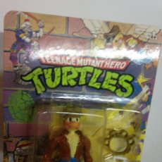 Figuras y Muñecos Tortugas Ninja: MASTERS LOTE TORTUGAS NINJA ACE DUCK BLISTER NINJA TURTLES VERSION ESPAÑA DIFICIL HE MAN AÑOS 80. Lote 107684435